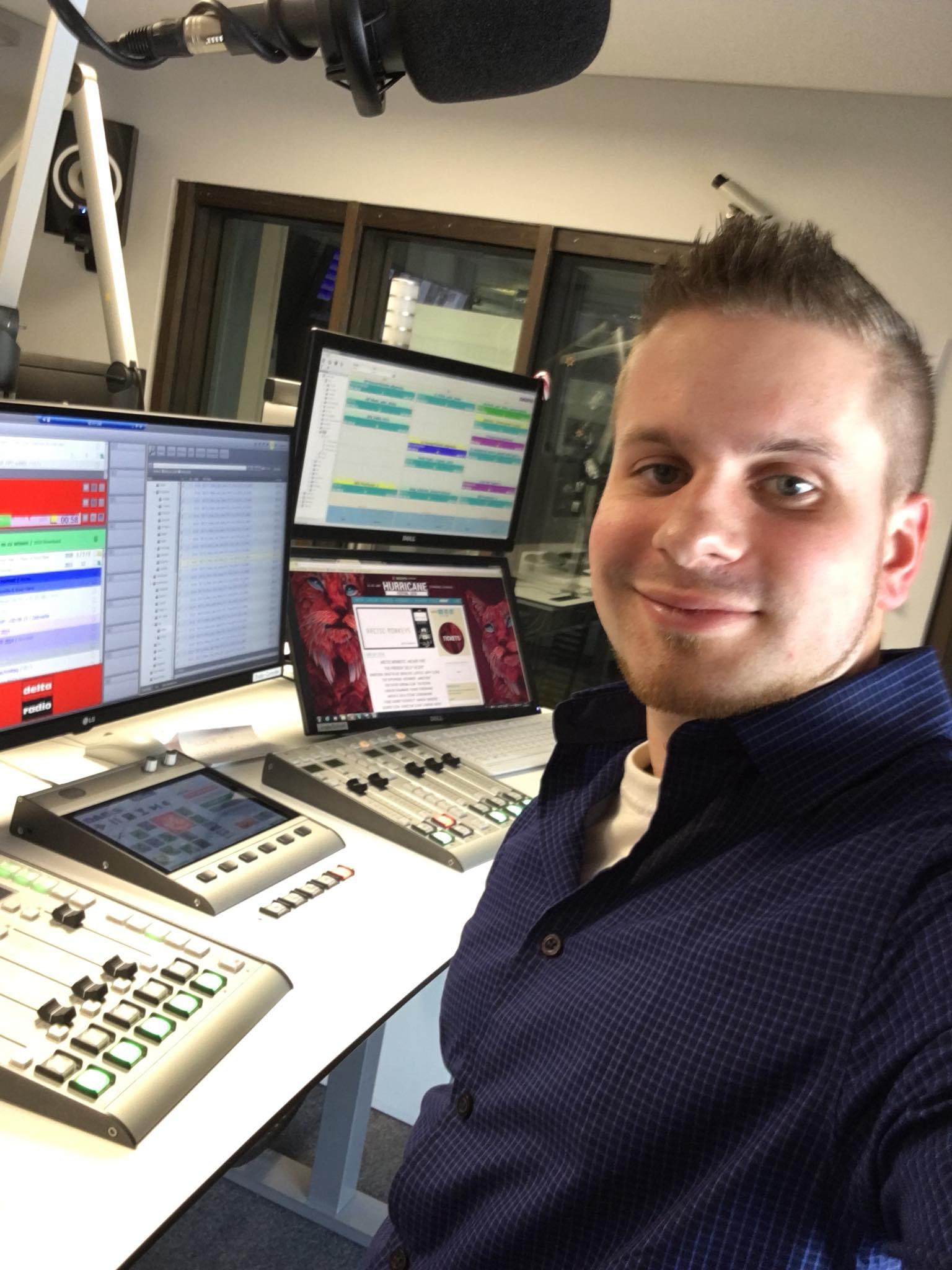 Carsten im Radio Studio